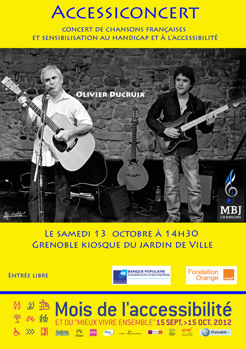 Affiche accessiconcert - grenoble 2012